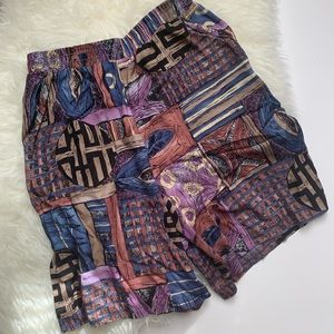 | high waist bold patterned shorts |